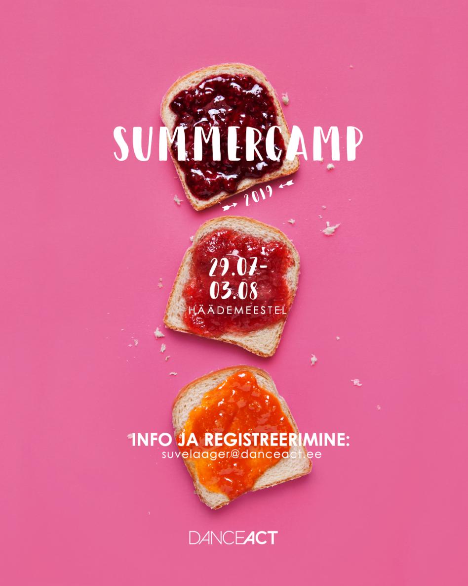Suvelaager DanceAct SummerCamp 29. juuli – 3. august 2019 Häädemeestel