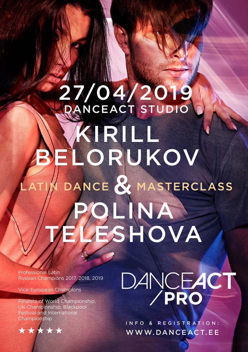 KIRILL BELORUKOV & POLINA TELESHOVA latin american dance sport lecture and classes | April 27h @ DanceAct
